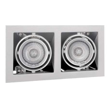 Встраиваемый светильник Lightstar Cardano 214020, 2xGU5.3x50W, белый, металл