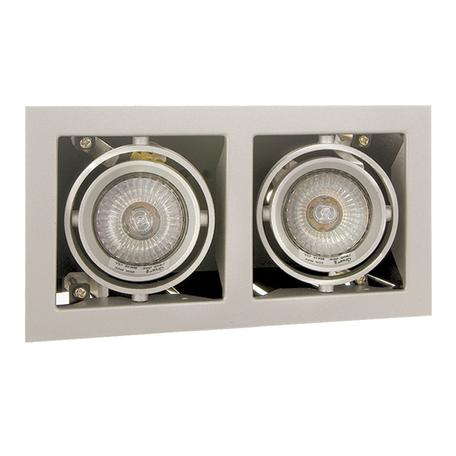Встраиваемый светильник Lightstar Cardano 214027, 2xGU5.3x50W, сталь, металл