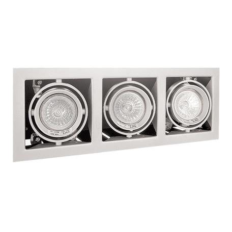 Встраиваемый светильник Lightstar Cardano 214030, 3xGU5.3x50W, белый, металл