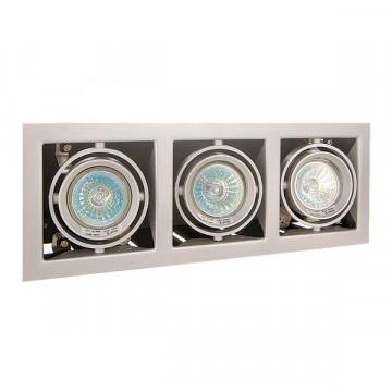 Встраиваемый светильник Lightstar Cardano 214037, 3xGU5.3x50W, сталь, металл