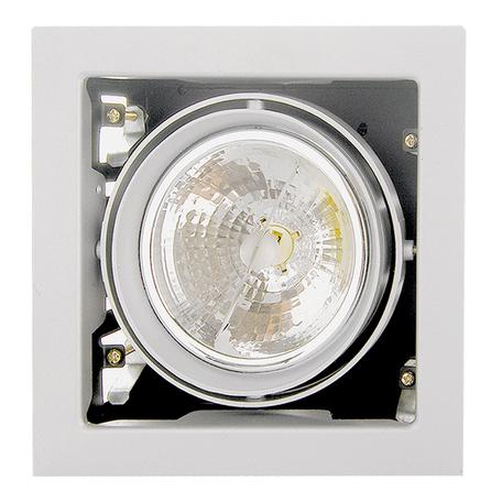 Встраиваемый светильник Lightstar Cardano 214110, 1xG53AR111x50W, белый, металл
