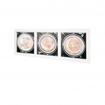 Встраиваемый светильник Lightstar Cardano 214130, 3xG53AR111x50W, белый, металл