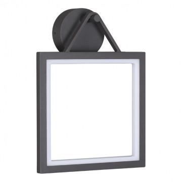 Настенный светодиодный светильник Novotech Roca 358060, IP65, LED 10W 3000K 600lm, серый, металл, пластик