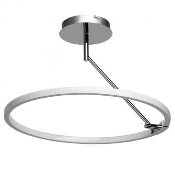 Потолочный светильник с регулировкой направления света De Markt Платлинг 661011801, хром, белый, металл, пластик