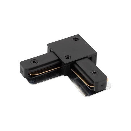 L-образный соединитель для шинопровода Denkirs DK Track Black TR1102-BK, черный, металл