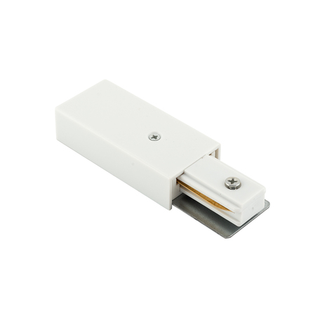 Подвод питания для трековой системы Denkirs DK Track White TR1100-WH, белый, металл