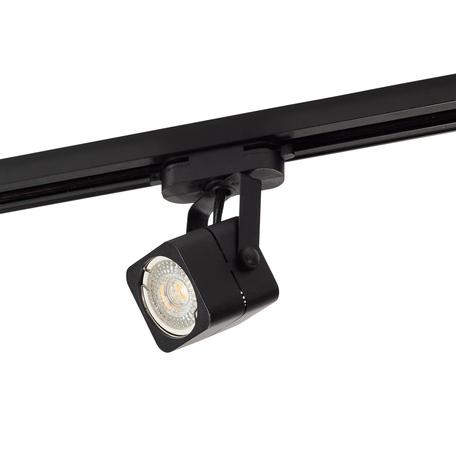 Светильник с регулировкой направления света для шинной системы Denkirs DK6003-BK, 1xGU10x50W, черный, металл