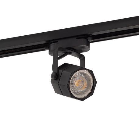 Светильник с регулировкой направления света для шинной системы Denkirs DK6004-BK, 1xGU10x50W, черный, металл