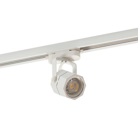 Светильник с регулировкой направления света для шинной системы Denkirs DK6004-WH, 1xGU10x50W, белый, металл