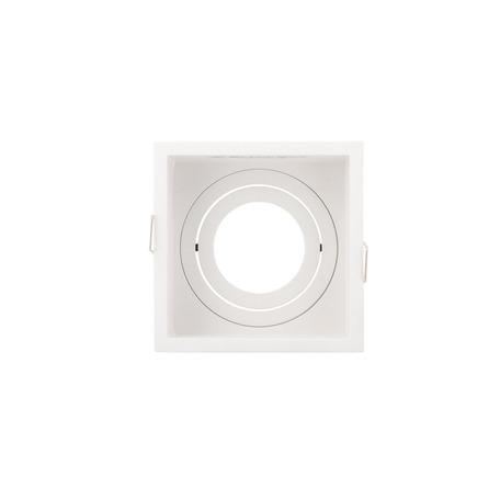Встраиваемый светильник с регулировкой направления света Denkirs DK2041-WH, 1xGU10x50W, белый, металл