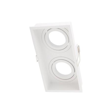 Встраиваемый светильник с регулировкой направления света Denkirs DK2041 DK2042-WH, 2xGU10x50W, белый, металл