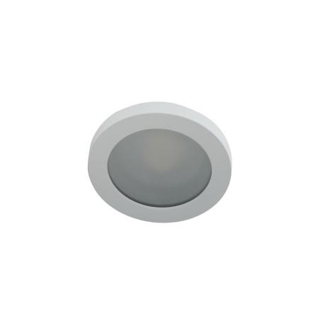 Встраиваемый светильник Denkirs DK3012-WH, IP44, 1xGU10x50W, белый, металл со стеклом