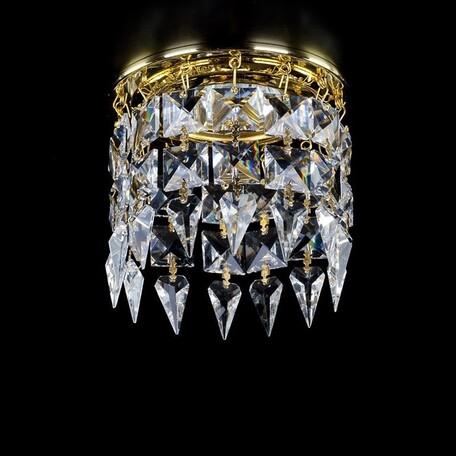 Встраиваемый светильник Artglass SPOT 19 CE SALE, 1xGU10x35W, золото, прозрачный с золотом, прозрачный, металл, хрусталь Artglass Crystal Exclusive