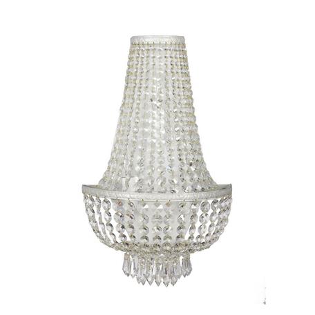 Бра Arti Lampadari Nobile E 2.20.100 WG, 3xE27x60W, белый, прозрачный, металл, хрусталь