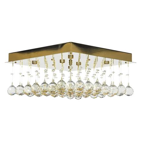 Потолочная люстра Arti Lampadari Flusso H 1.4.40.616 G, 6xG9x40W, золото, прозрачный, металл, хрусталь