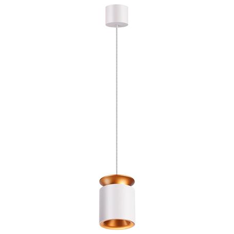 Подвесной светодиодный светильник Novotech Over Oro 358157, LED 9W 3000K 600lm, белый, белый с золотом, золото с белым, металл