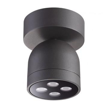 Потолочный светодиодный светильник Novotech Galeati 358118, IP65, 3000K (теплый), серый, металл, стекло