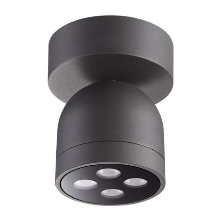 Потолочный светодиодный светильник Novotech Galeati 358118, IP65, LED 10W 3000K 700lm, серый, металл
