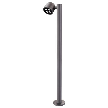 Уличный светодиодный фонарь Novotech Galeati 358115, IP65, 3000K (теплый), серый, металл, стекло