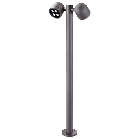 Уличный светодиодный фонарь Novotech Galeati 358116, IP65, 3000K (теплый), серый, металл, стекло