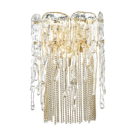Бра Odeon Light Classic Brita 4634/1W, 1xE14x40W, золото, прозрачный, металл, стекло