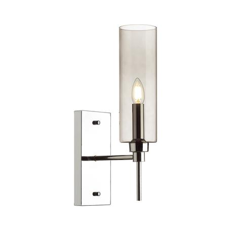 Бра Odeon Light Modern Diatra 4688/1W, 1xE14x40W, хром, дымчатый, металл, стекло