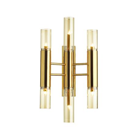 Бра Odeon Light Hall Peka 4690/6W, 6xG9x40W, золото, янтарь, металл, стекло