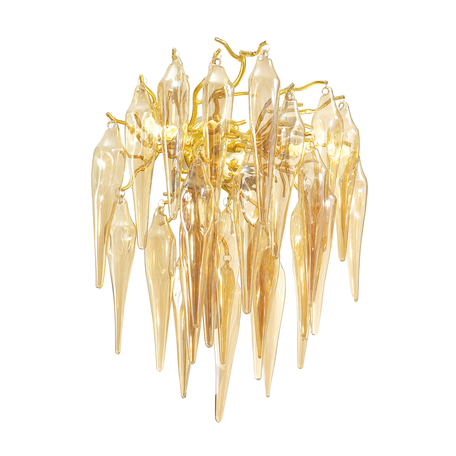 Бра Odeon Light Classic Foscara 4718/2W, 2xG9x40W, золото, янтарь, металл, стекло