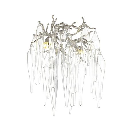 Бра Odeon Light Classic Foscara 4719/2W, 2xG9x40W, серебро, прозрачный, металл, стекло