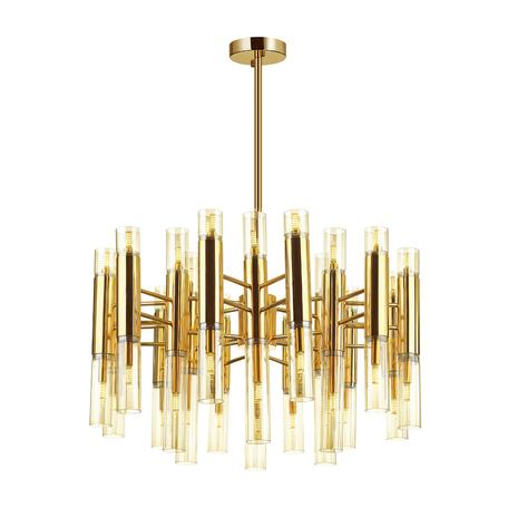 Люстра на составной штанге Odeon Light Peka 4690/36, 36xG9x40W, золото, янтарь, металл, стекло