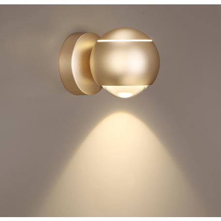 Настенный светодиодный светильник с регулировкой направления света Odeon Light L-Vision Elon 3915/9WL, LED 8,5W 4000K 400lm, матовое золото, металл