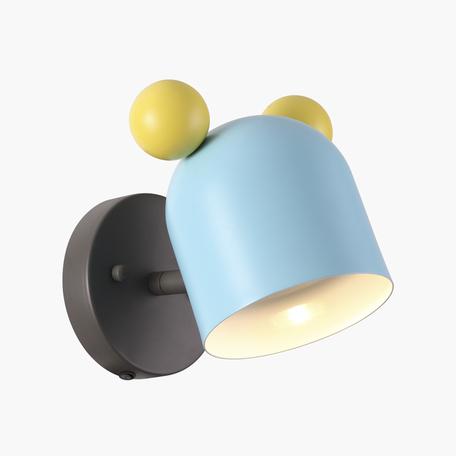 Настенный светильник с регулировкой направления света Odeon Light Kids Mickey 4732/1W, 1xGU10x5W, темно-серый, голубой, разноцветный, металл