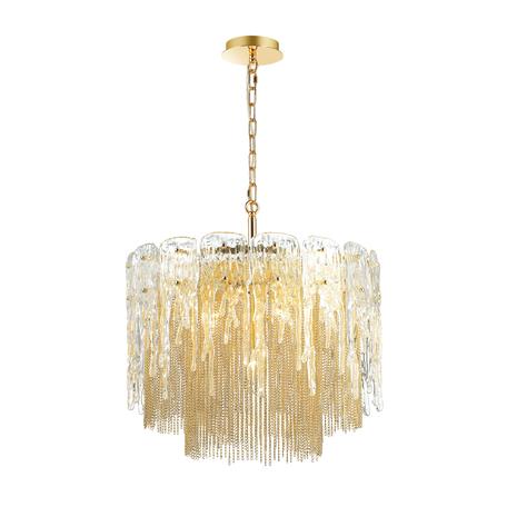Подвесная люстра Odeon Light Classic Brita 4634/6, 6xE14x40W, золото, прозрачный, металл, стекло
