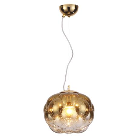 Подвесной светильник Odeon Light Pecola 4701/1A, 1xE27x40W, золото, металл, стекло