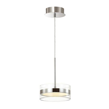 Подвесной светодиодный светильник Odeon Light L-Vision Akela 4728/14L, LED 14W 4000K 915lm, хром, прозрачный, металл, пластик
