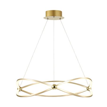 Подвесной светодиодный светильник Odeon Light L-Vision Lesla 4730/43L, LED 43W 4000K 2834lm, золото, матовое золото, металл, металл с пластиком