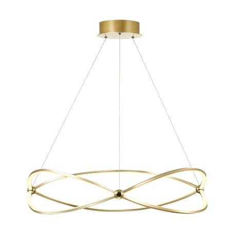 Подвесной светодиодный светильник Odeon Light L-Vision Lesla 4730/54L, LED 54W 4000K 3465lm, золото, матовое золото, металл, металл с пластиком