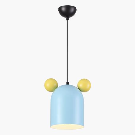 Подвесной светильник Odeon Light Kids Mickey 4732/1, 1xGU10x5W, черный, голубой, разноцветный, металл