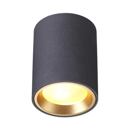 Потолочный светильник Odeon Light Hightech Aquana 4205/1C, IP54, 1xGU10x50W, черный, металл