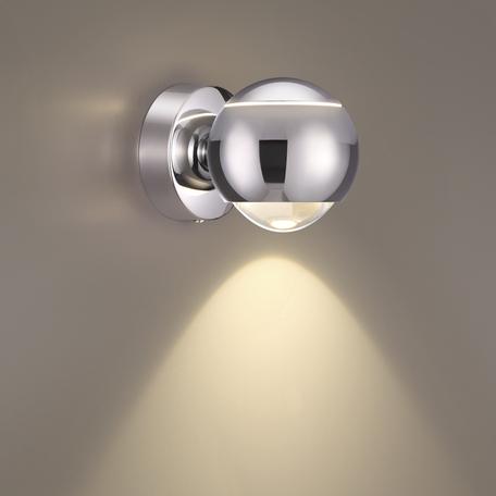 Настенный светодиодный светильник с регулировкой направления света Odeon Light L-Vision Elon 3914/9WL, LED 8,5W 4000K 400lm, хром, металл