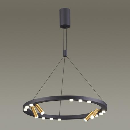 Подвесная светодиодная люстра с регулировкой направления света Odeon Light Beveren 3918/48L, LED 48W 4000K 4080lm, черный, металл