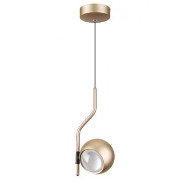 Подвесной светодиодный светильник с регулировкой направления света Odeon Light Elon 3915/9L, LED 8,5W 4000K 400lm, матовое золото, металл