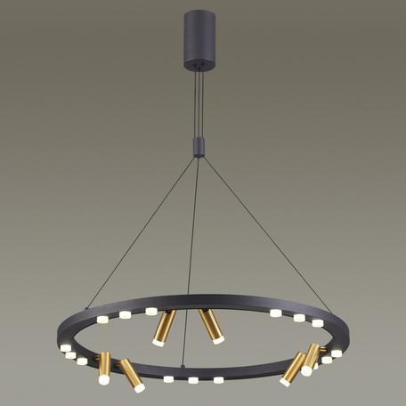 Подвесная светодиодная люстра с регулировкой направления света Odeon Light Beveren 3918/63L, LED 63W 4000K 5355lm, черный, металл