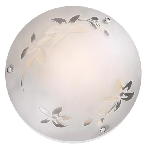 Потолочный светильник Sonex Romana 2214, 2xE27x60W, хром, матовый, прозрачный, металл, стекло - фото 1