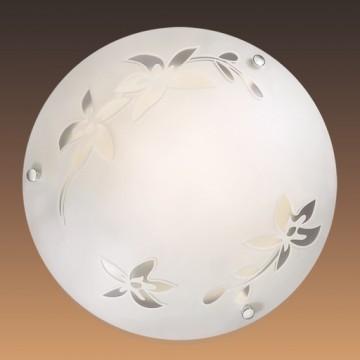 Потолочный светильник Sonex Romana 2214, 2xE27x60W, хром, матовый, прозрачный, металл, стекло - миниатюра 2