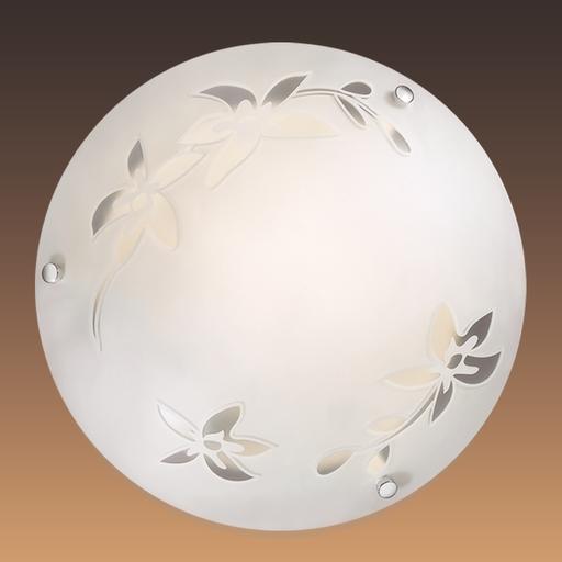 Потолочный светильник Sonex Romana 2214, 2xE27x60W, хром, матовый, прозрачный, металл, стекло - фото 2