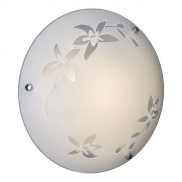 Потолочный светильник Sonex Romana 2214, 2xE27x60W, хром, матовый, прозрачный, металл, стекло - миниатюра 3