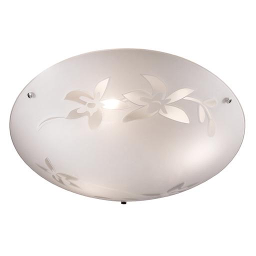 Потолочный светильник Sonex Romana 2214, 2xE27x60W, хром, матовый, прозрачный, металл, стекло - фото 4