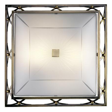 Потолочный светильник Sonex Villa 2261, 2xE27x60W, бронза, матовый, прозрачный, металл, стекло