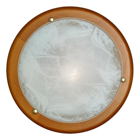 Потолочный светильник Sonex Alabastro 227, 2xE27x60W, коричневый, белый, дерево, стекло